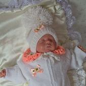 """Комплект для новорожденного """"Милашка""""  Комбинезон,шапочка,пинетки"""