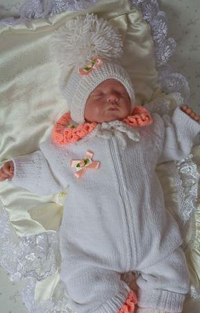 """Комплект для новорожденного """"Милашка""""  Комбинезон,шапочка,пинетки ручной работы на заказ"""