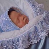 """Комплект для новорожденного. Одеяло.Шапочка.Бант. """"Маленькое чудо """""""