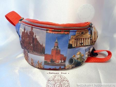 """Сумка на пояс """"Москва"""" ручной работы на заказ"""