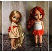 Платья в греческом стиле для кукол Дисней Аниматорс