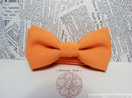 "Галстук бабочка ""Апельсин"" ручной работы на заказ"