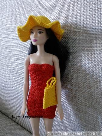 Шляпа и сумка на Барби ручной работы на заказ