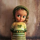 Вязанные платья для кукол Дисней Аниматос 40 см.