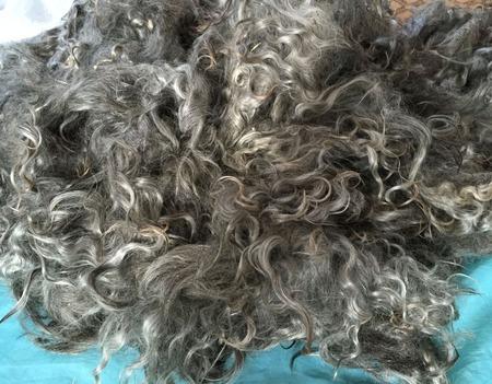 Серый козий пух нерасчесанный, в руне ручной работы на заказ