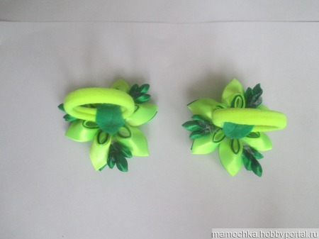 Зелёные резиночки ручной работы на заказ