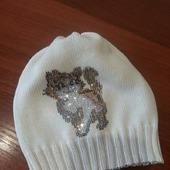 Хлопковая шапочка с авторским декором из страз р. 50-52