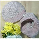 Комплект весенний шапка и снуд