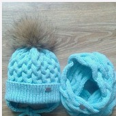 Комплект шапка и снуд зимний