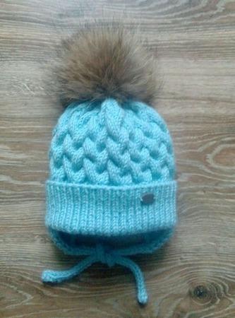 Комплект шапка и снуд зимний ручной работы на заказ