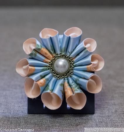 Голубая роза ручной работы на заказ