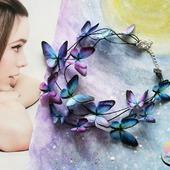 """Колье """"Cosmic butterfly""""колье с бабочками"""