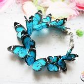 "Колье ""Turquoise butterflies""  колье с бабочками"