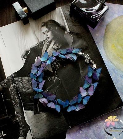 "Колье ""Twilight butterfly ""mini ручной работы на заказ"