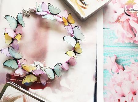 """Колье """"Spring butterfly"""" ручной работы на заказ"""