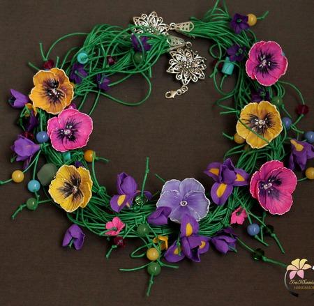 "Колье  ""Summer flower"" ручной работы на заказ"