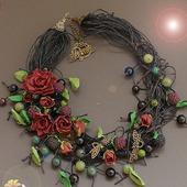 фото: Украшения (цветы из полимерной глины)