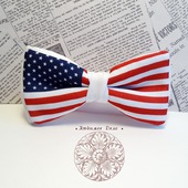 "Галстук-бабочка  ""Американский флаг"""