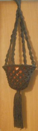 Кашпо подвесное коричневое ручной работы на заказ
