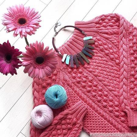 Вязаный свитер оверсайз из хлопка ручной работы на заказ