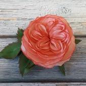 Брошь с пионовидной розой