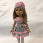 Вязанные платья для кукол Паола Рейн