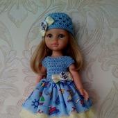 Платье шапочка и балетки для Паолы