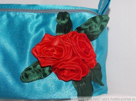 Атласная роза ручной работы на заказ