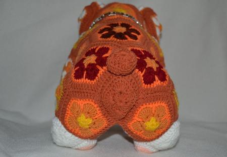 Бульдог Рони. Африканский цветок ручной работы на заказ