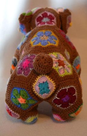 Бульдог Йоко. Африканский цветок ручной работы на заказ