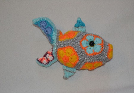 Рыбка. Африканский цветок ручной работы на заказ
