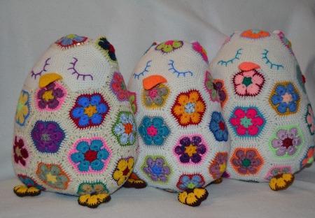 Подушечки совушки-сплюшки. Африканский цветок ручной работы на заказ