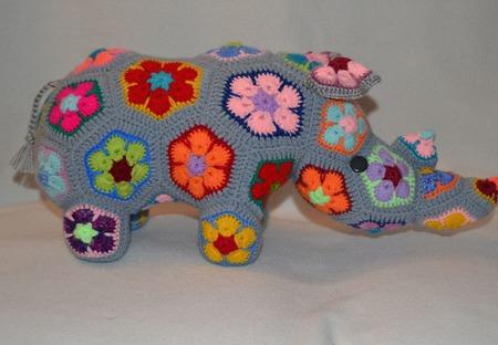 Носорог Тимбер. Африканский цветок ручной работы на заказ