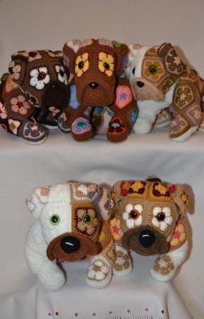 Петербургская Четверка и Йоко. Бульдоги. Африканский цветок ручной работы на заказ