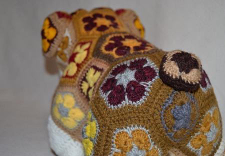 Бульдог Элтон. Африканский цветок ручной работы на заказ