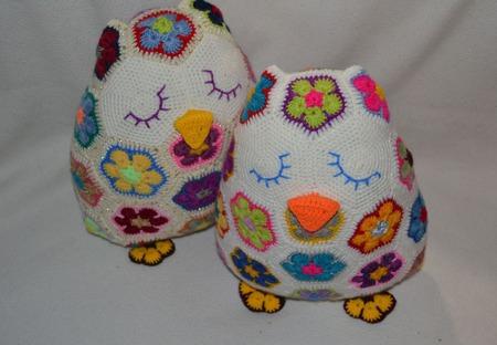 Подушечка сова. Африканский цветок ручной работы на заказ