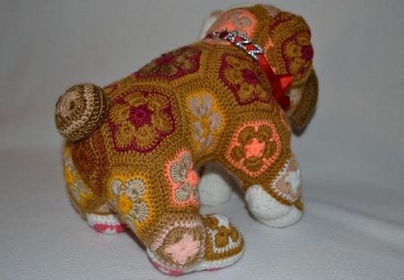Бульдог JAZZ. Африканский цветок ручной работы на заказ