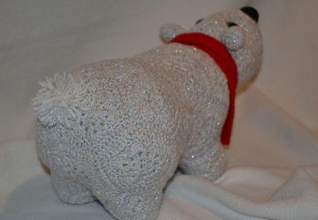 """Белый медведь """"Север"""". Африканский цветок ручной работы на заказ"""