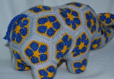 Носорог Бибер. Африканский цветок ручной работы на заказ