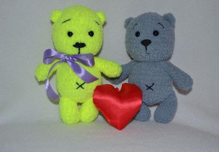 Влюбленные медвежата ручной работы на заказ