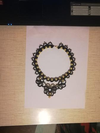 """Ожерелье """"Лунная ночь"""" ручной работы на заказ"""