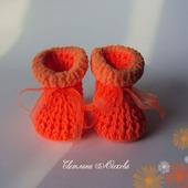 Пинетки оранжевые для девочки