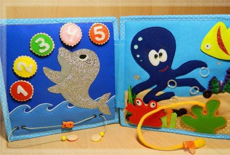 Развивающая книжка Море ручной работы на заказ