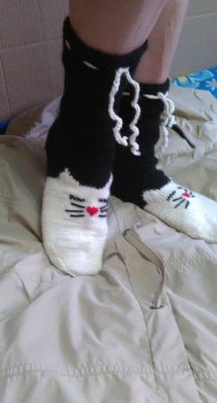 """Носки """"Милые котики"""" ручной работы на заказ"""