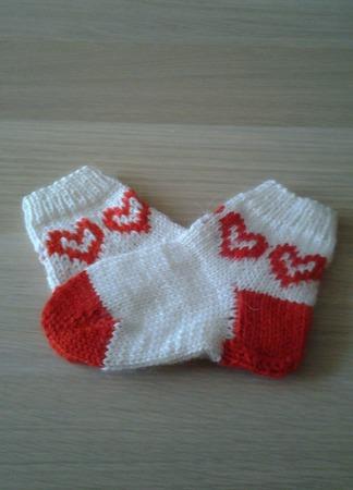 """Детские носочки """"Сердце"""" ручной работы на заказ"""