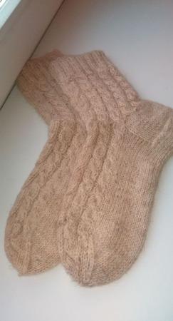 Бабушкины шерстяные носки ручной работы на заказ
