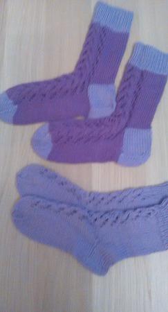 Носки для мамы и дочки ручной работы на заказ