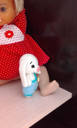 Зайчишка в штанишках ручной работы на заказ