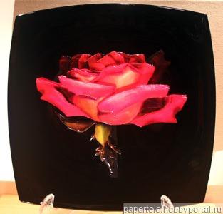 Роза рассвет ручной работы на заказ