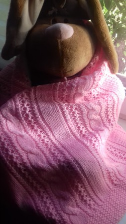 Нежно-розовый плед ручной работы на заказ